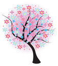 Free Blossoming Spring Tree. Vector Illustration. Royalty Free Stock Image - 20369066