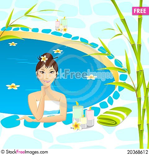 Free Lady Taking Spa Stock Photography - 20368612