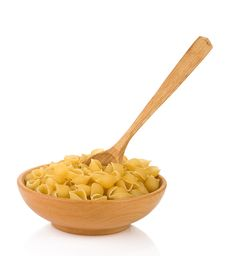Free Raw Pasta And Wooden Spoon Royalty Free Stock Photos - 20361788