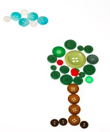 Free Buttons Shaping Tree With Cloud Stock Photos - 20361803