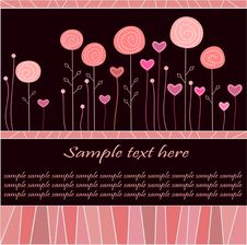 Free Greeting Card/ Valentine S Day Card / Background Royalty Free Stock Photography - 20361877