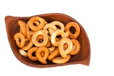 Bagels On A Wooden Plate