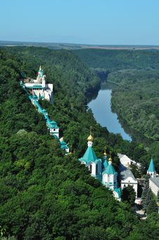Free Monastery On The River Stock Images - 20361924