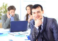 Satisfied Businessman Looking Stock Photos