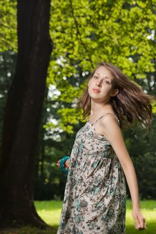Free Young Student Dancing On The Clearing Stock Photos - 20362943
