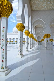 Free Sheikh Zayed Mosque In Abu Dhabi City Stock Image - 20363111