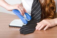 Free Tie And A Stapler Stock Images - 20363754