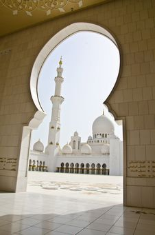 Free Sheikh Zayed Mosque In Abu Dhabi City Stock Images - 20364214