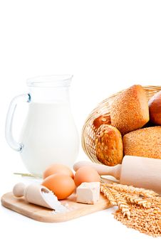 Free Ingredients For Homemade Bread Royalty Free Stock Photos - 20364558