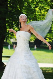 Free Beautiful Bride Outdoor Stock Photo - 20364770
