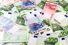 Free Euro Banknotes Background Royalty Free Stock Photos - 20365048