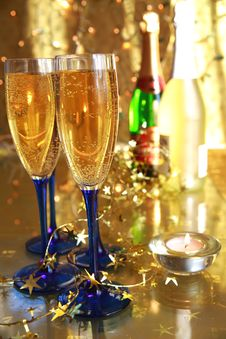 Free Close-up Of Champagne In Glasses Stock Photo - 20366750