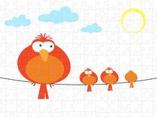 Free Bird Graphic Puzzle Jigsaw Stock Photos - 20366763