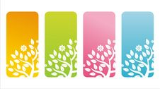Free Colorful Floral Banners Stock Photography - 20366852