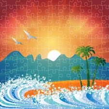 Free Summer Holiday Beach Background Puzzle Royalty Free Stock Photography - 20366887