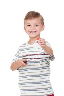 Free Boy With Badminton Racket Stock Photo - 20367160