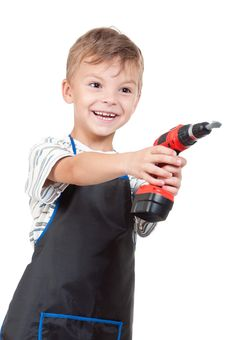 Free Boy With Tools Stock Photos - 20367163