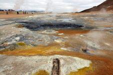 Free Hverir Geothermal Area Near Krafla Stock Photography - 20367512