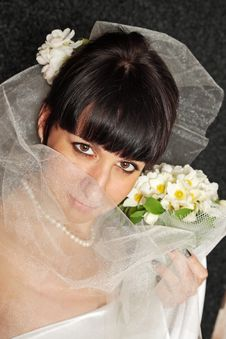 Free Bride With A Bouquet Royalty Free Stock Photography - 20367687