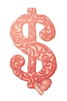 Free Dollar Brain Royalty Free Stock Photography - 20368837