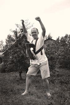Happy Father Having Fun Stock Image
