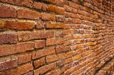Laterite Brick Wall Tilted Out Close Up Royalty Free Stock Image