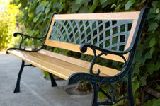 Bench In The Garden. Royalty Free Stock Photography