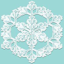 Free Snowflake, Stricker Royalty Free Stock Photography - 20369727