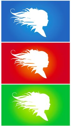 Free Three Girl Silhouette Royalty Free Stock Photography - 20369857