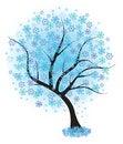 Free Frozen Winter Tree. Vector Illustration. Royalty Free Stock Image - 20376166