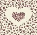 Free Coffee Bean Heart Stock Photos - 20378303