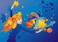 Free The Girl-autumn Stock Photo - 20378360