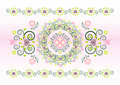 Free Horizontal Ornament With Flower Stock Photography - 20379782