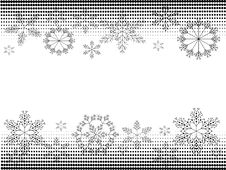 Free Christmas Banners BW Royalty Free Stock Photo - 20370105