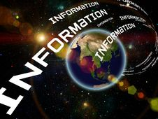 Earth Information Stock Image