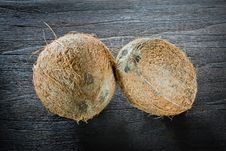 Free ,coconut On Wood, Royalty Free Stock Images - 20370819