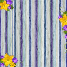 Free Vintage Striped Background With Flowers Stock Photography - 20371042