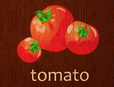 "Free Wooden Plaque ""tomato"" Royalty Free Stock Photo - 20371215"