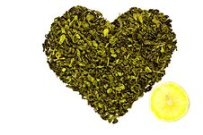 Free The Heart Of The Green Tea With Lemon Stock Photos - 20372003