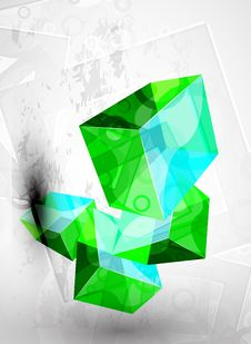 Abstract Vector Glossy Shapes Design Stock Photography