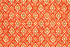 Texture Of Thai Style Cloth Royalty Free Stock Photo