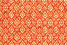 Free Texture Of Thai Style Cloth Royalty Free Stock Photo - 20373365