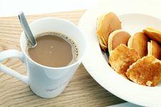 Coffee And Pancake Stock Photos