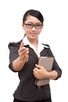 Free Asia Business Woman Royalty Free Stock Photography - 20374607