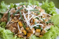 Pad Thai, Stir Fry Noodles Stock Photos