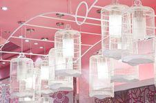 Bird Cage Lamp Royalty Free Stock Image