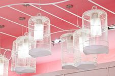 Bird Cage Lamp Royalty Free Stock Photography