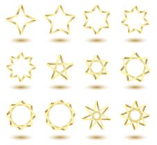 Free Stars In Origami Style Royalty Free Stock Image - 20374866