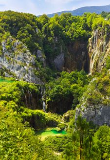 Plitvice Lakes In Croatia Stock Photography