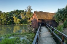 Historic Watermill In Slovakia. Small Danube. Stock Photography